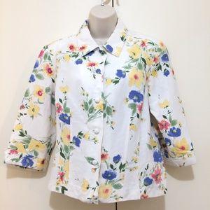 Emma James Jacket Ladies Size 12 Petite Floral